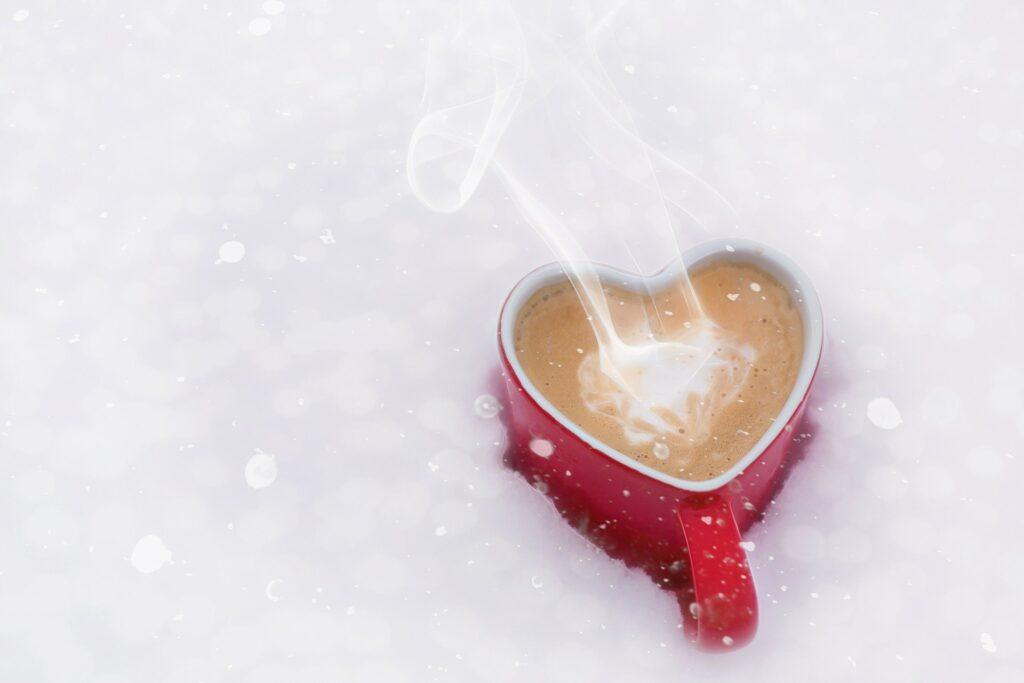 kaffe i sneen